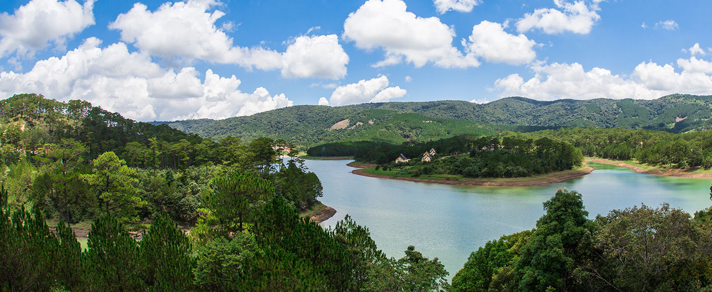The beautiful Tuyen Lam Lake. View from Dalat Edensee Resort.