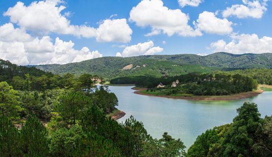 The beautiful Tuyen Lam Lake. View from Dalat Edensee Resort.